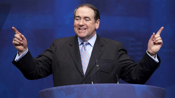 FILE - In this Feb. 10, 2012, file photo, former Arkansas Gov. Mike Huckabee addresses the Conservative Political Action Conference in Washington. The Republican National Committee has announced that Huckabee will be one of the speakers at the GOP Convention.  (AP Photo/J. Scott Applewhite, File)