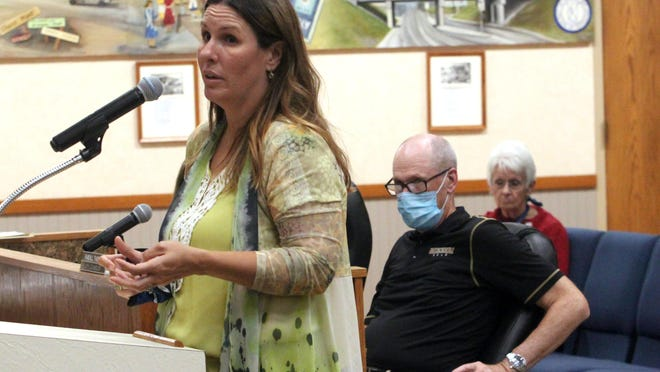 Moberly Area Chamber of Commerce Executive Director Megan Schmidt gave a report Monday evening about Saturday's Junk Junktion event held in downtown Moberly to the Moberly City Council.