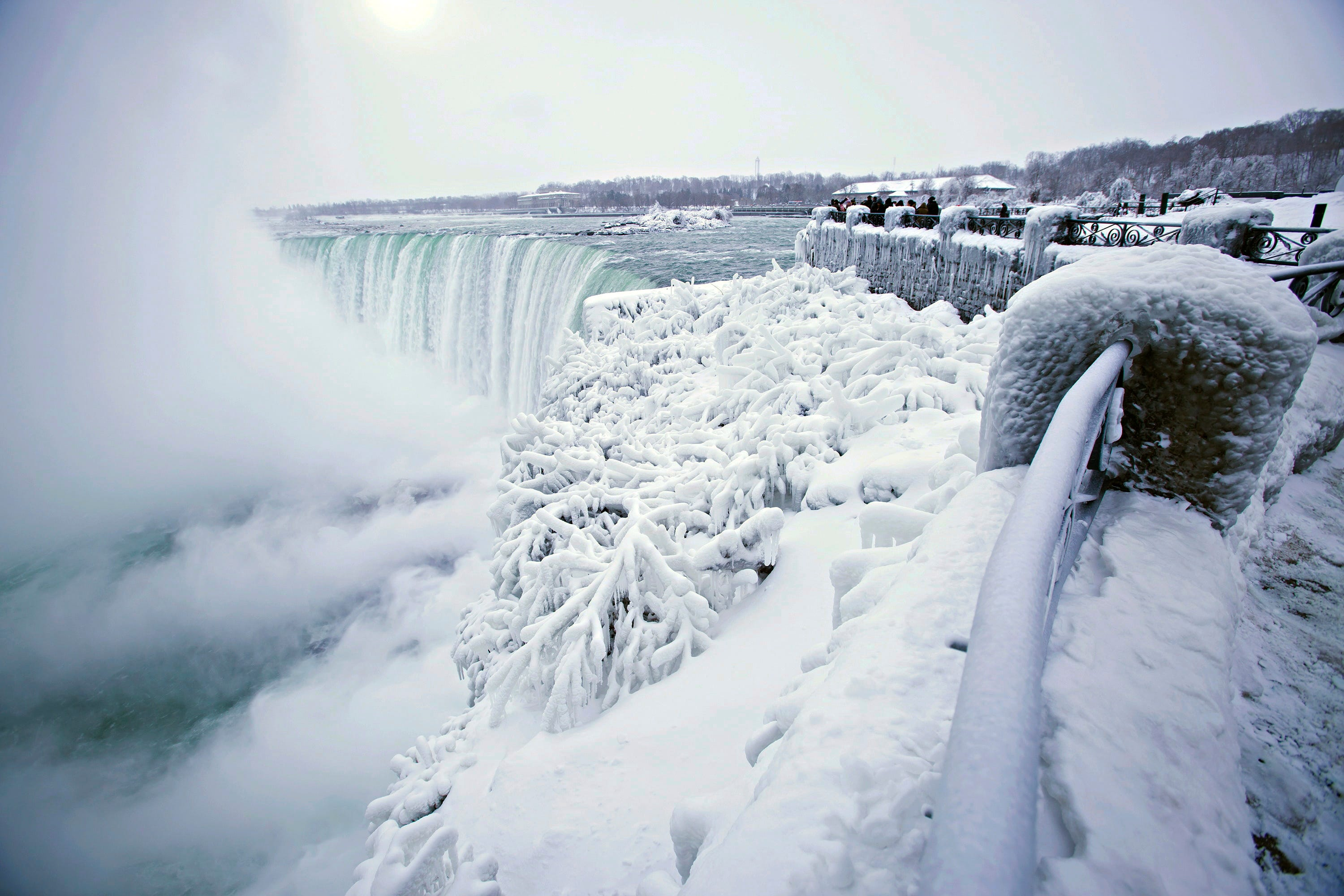 Its So Cold In North America That Niagara Falls