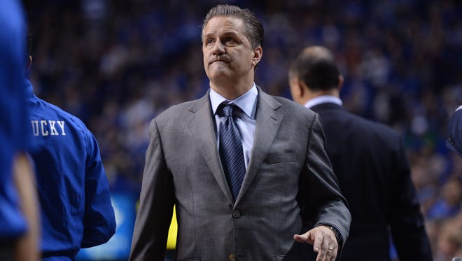 UK head coach John Calipari during the University of Kentucky men's basketball game against Columbia at Rupp Arena in Lexington, Ky. Wednesday, December 10, 2014.