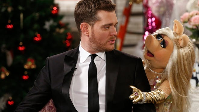 Michael Buble and Miss Piggy.