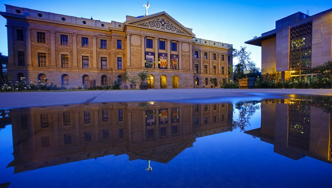 The Arizona State Capitol.
