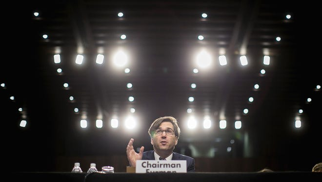 Jason Furman, chairman of the Council of Economic Advisors, testifies on the current economic outlook during a hearing of the Joint Economic Committee on November 13, 2013 in Washington, DC. Furman has proposed rules to protect retirement account holders.