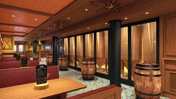 The Carnival Vista will have a pub with a working brewery