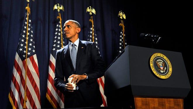 President Obama in Philadelphia on Thursday.