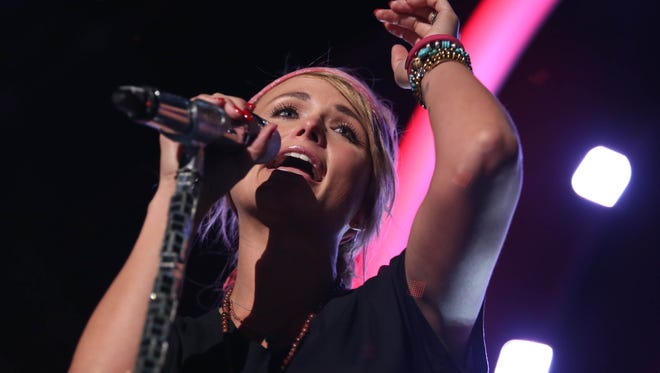 Miranda Lambert performs during the 57th Annual Grammy Awards rehearsals on Friday, Feb. 6, 2015, in Los Angeles.