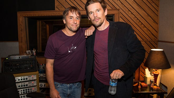 Director Richard Linklater (L) and actor Ethan Hawke share a rich, cinematic history