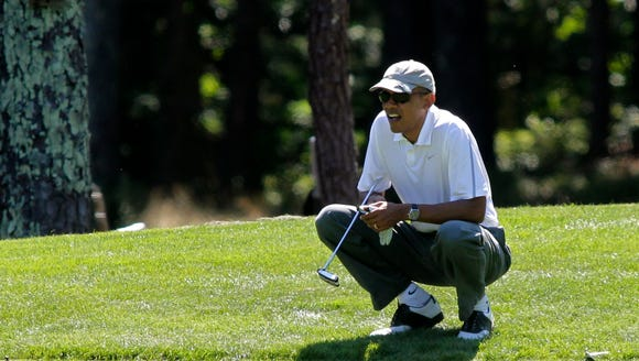 President Obama on the links in 2014.