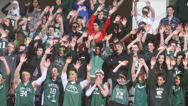 Irvington defeated Pleasantville 61-39 in a Class B girls basketball semifinal against Pleasantville at the Westchester County Center Feb. 24, 2015.