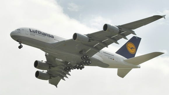 The first Airbus A380 of German airline Lufthansa
