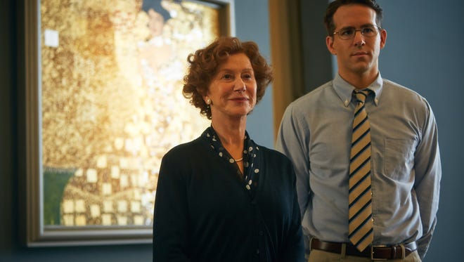 Maria (Helen Mirren)  enlists a lawyer (Ryan Reynolds) to retrieve a painting stolen by the Nazis in  'Woman in Gold.'