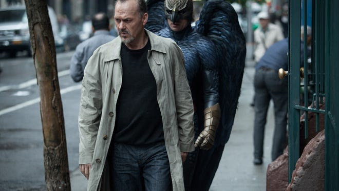 "This file photo released by Twentieth Century Fox shows Michael Keaton, left, as Riggan in a scene from the film, ""Birdman, or (The Unexpected Virtue of Ignorance"" directed by Alejandro Gonzalez Inarritu. (AP Photo/Copyright Twentieth Century Fox, Atsushi Nishijima, File)"