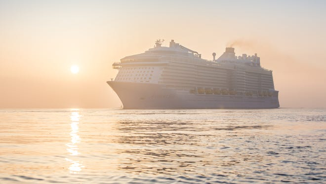 At 168,677 tons, Royal Caribbean's new Anthem of the Seas is tied as the third largest cruise ship ever built.