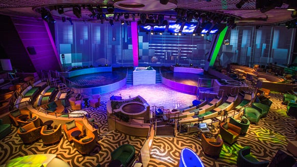 The Two70 lounge at the back of Anthem of the Seas.
