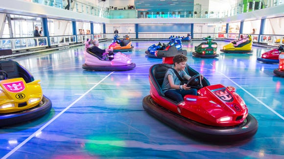 Bumper cars are among the attractions at the SeaPlex