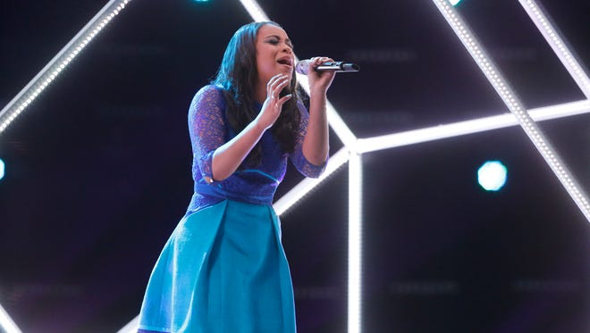 "THE VOICE -- ""Live Top 8"" Episode 815A -- Pictured: Koryn Hawthorne -- (Photo by: Trae Patton/NBC)"