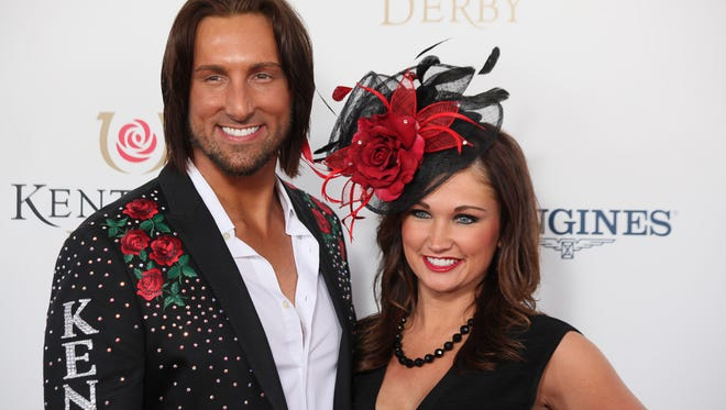 JD Shelburne on the Kentucky Derby red carpet at Churchill Downs in Louisville, KY. May 2, 2015
