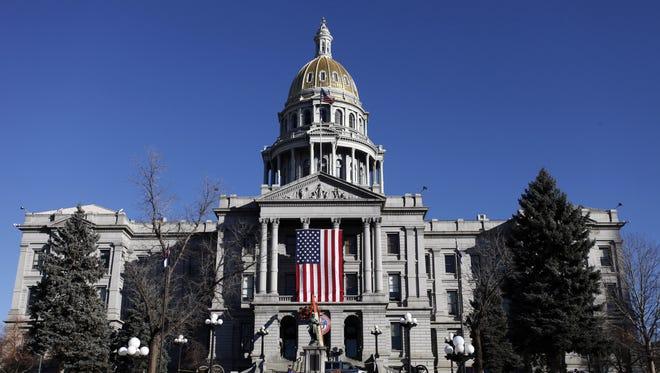 The capitol building in Denver, Colorado.