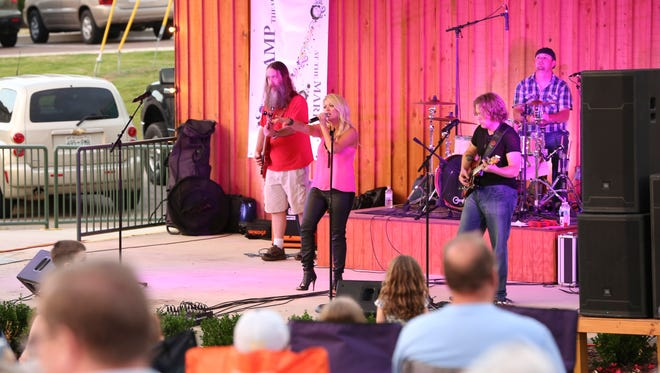 A file photo of girl's night out and Amphitheater concert in downtown Jackson Friday evening.