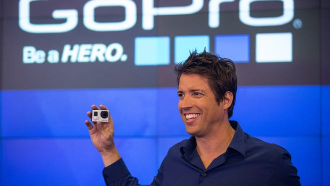 NEW YORK, NY - JUNE 26:  Nick Woodman, founder and CEO of GoPro speaks during the company's initial public offering (IPO) at the Nasdaq Stock Exchange on June 26, 2014 in New York City.