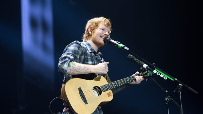 Ed Sheeran performs Tuesday, June 9, 2015, at Wells Fargo Arena in Des Moines.