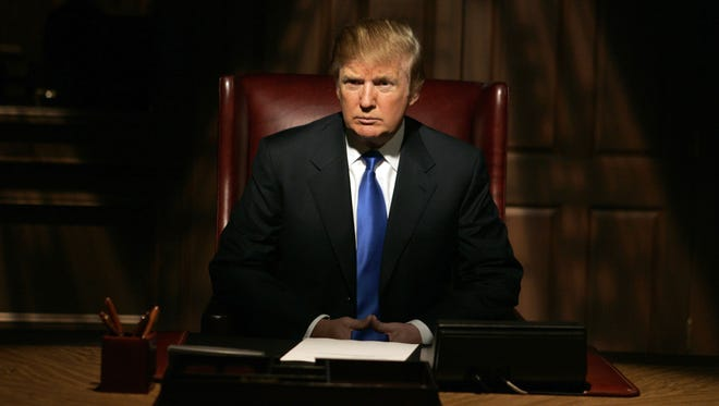 """Donald Trump on the set for his show, """"The Apprentice"""" in 2006."""