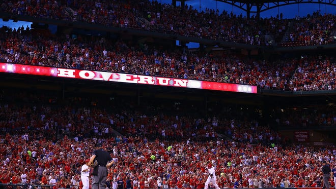 Cardinals play in a 2015 game, file photo
