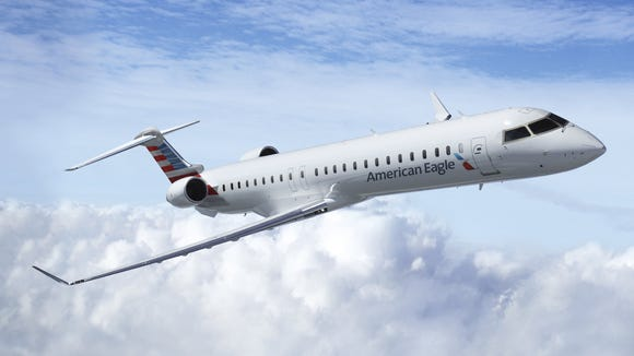 A file photo of an American Airlines Bombardier CRJ-900