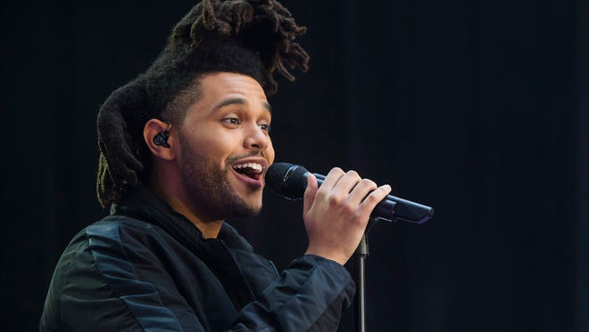 """Abel Tesfaye, known by his stage name The Weeknd, performs on NBC's """"Today"""" show in New York."""