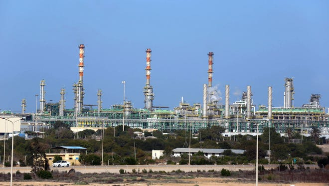 A general view taken on January 6, 2015 shows the Mellitah Oil and Gas terminal on the outskirts of Zwara in western Libya.