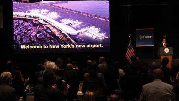 New York Gov. Andrew Cuomo speaks at an event attended
