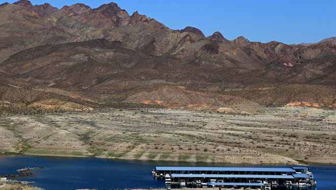 The Callville Trail climbs 200 feet in elevation to look out over Callville Bay at Lake Mead National Recreation Area.