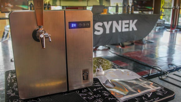 The Synek system with a brushed stainless steel front is currently priced at $299 and includes five beer cartridges and a CO2 tank.