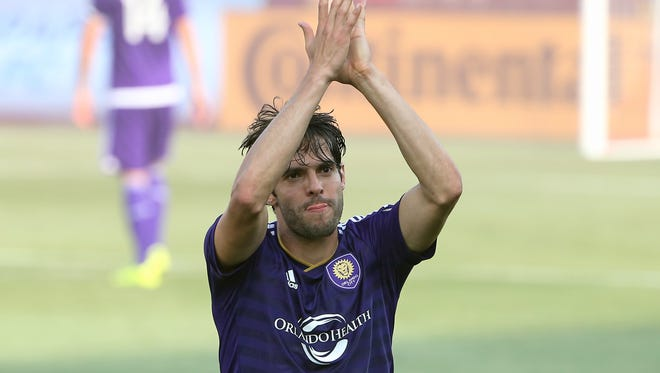 Aug 22, 2015; Toronto, Ontario, CAN; Orlando City SC midfielder Kaka (10) comes off the field as he is replaced by a substitute against the Toronto FC at BMO Field. Toronto FC beat Orlando City SC 5-0. Mandatory Credit: Tom Szczerbowski-USA TODAY Sports