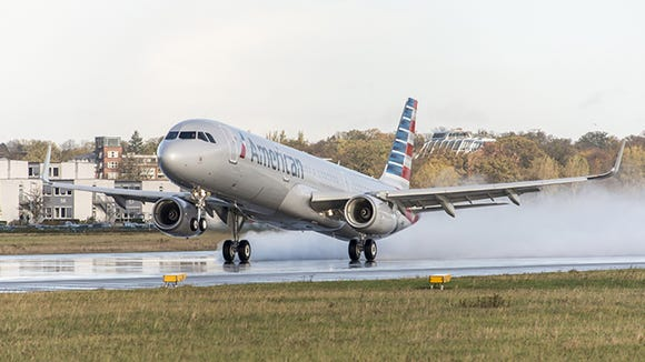 A file photo of an American Airlines Airbus A321.