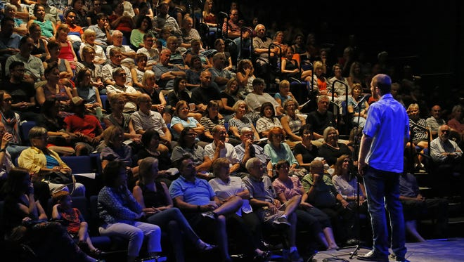 David Wallace takes part in Arizona Storytellers, Outdoor Adventures at Phoenix Theatre on Sept. 14, 2015 in Phoenix.