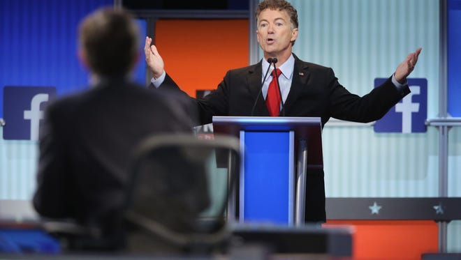 Republican presidential candidate Sen. Rand Paul, shown fielding a question during the first Republican presidential debate, said he improved and got more face time during the second debate held Wednesday night. Paul visited Reno Thursday.