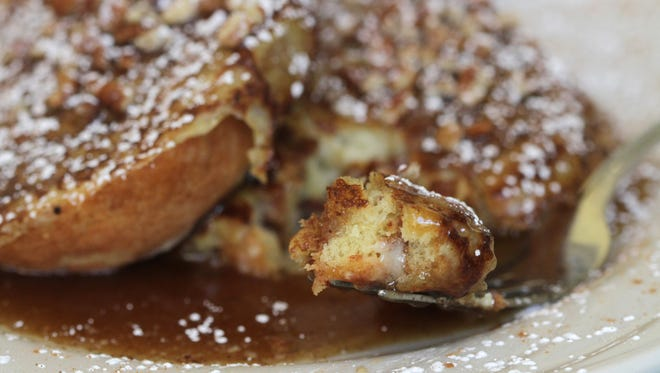 The cinnamon roll french toast served at Verbena Cafe in Norton Commons.  Sept. 23, 2015