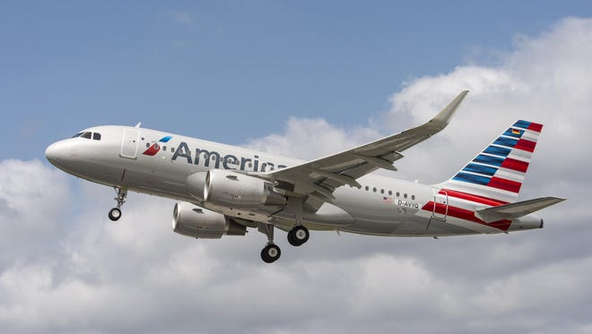 A file photo of an American Airlines Airbus A319.