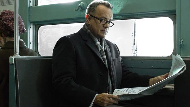 "Tom Hanks portrays Brooklyn lawyer James Donovan in a scene from the Steven Spielberg film, ""Bridge of Spies."""