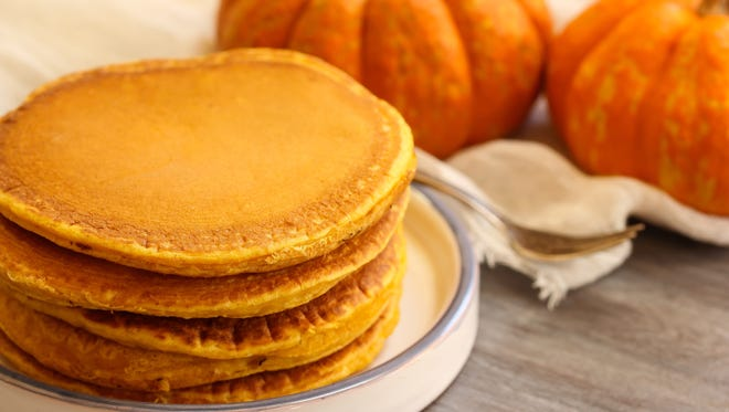 Pumpkin pancakes are available at The Original Pancake House.