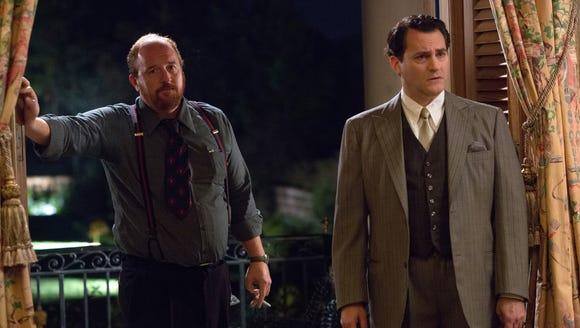 "Louis C.K. and Michael Stuhlbarg in ""Trumbo."""