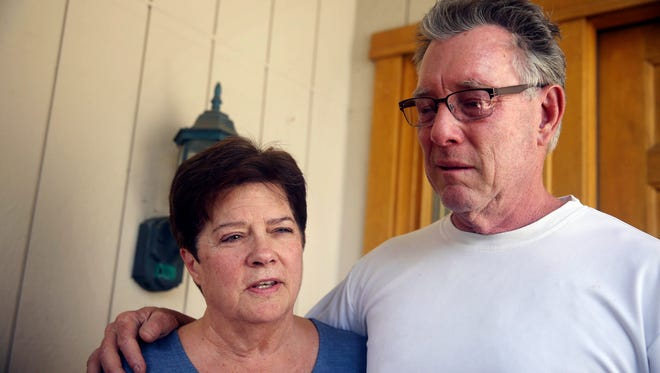 Liz Sullivan, left, and Jim Steinle, parents of Kathryn Steinle, discuss her death. She was shot by an undocumented immigrant while walking with her father and a friend along a pedestrian pier on the San Francisco waterfront.