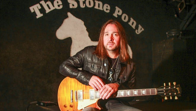 Asbury Park, NJ    Matt O'Ree recently back from being on tour as guitarist with Bon Jovi will be headlining The Stone Pony later this month.101615 Photo Tom Spader/Gannett