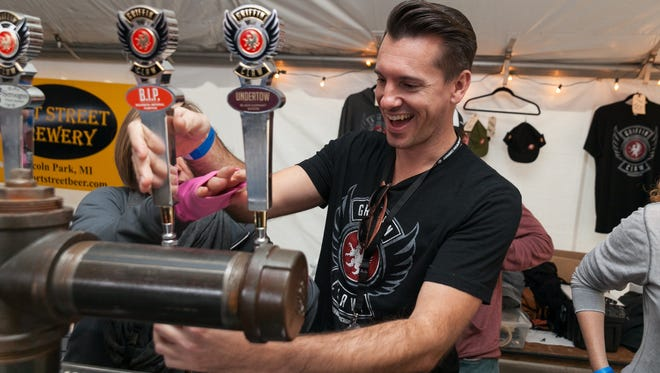 Griffin Claw of Birmingham was one of over 75 Michigan craft breweries to participate in the 6th annual Detroit Fall Beer Festival on Saturday, October, 25 2014.