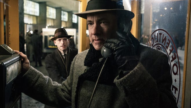 """In this image released by Disney, Tom Hanks appears in a scene from """"Bridge of Spies."""""""