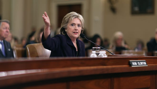 Hillary Clinton testifies before the House Select Committee on Benghazi on Oct. 22, 2015.