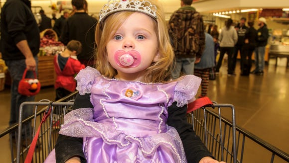 Morgan Curtis of Altoona is Princess Sofia the First at last year's Safe Trick or Treat event hosted by Altoona businesses.