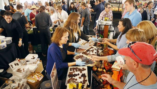 People enjoy the azcentral.com Food & Wine Experience Sunday, Nov. 8, 2015 in Scottsdale,  Ariz.