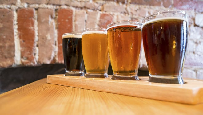 Flight of Four Beers for Tasting